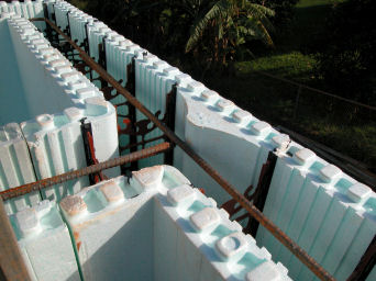Insulating concrete form finland singapore collaboration for Concrete foam walls